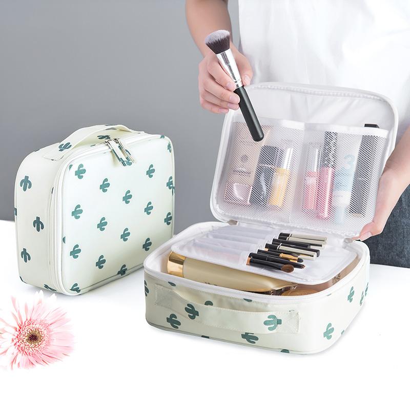 网红化妆包ins风超火小号女便携简约大容量旅行随身品箱袋收纳盒