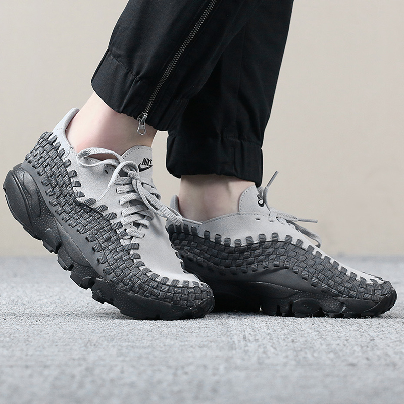 on sale c9a3e 5d127 ... Nike NIKE Air Footscape Woven Womens Lightweight Knit Casual Shoes  917698-004