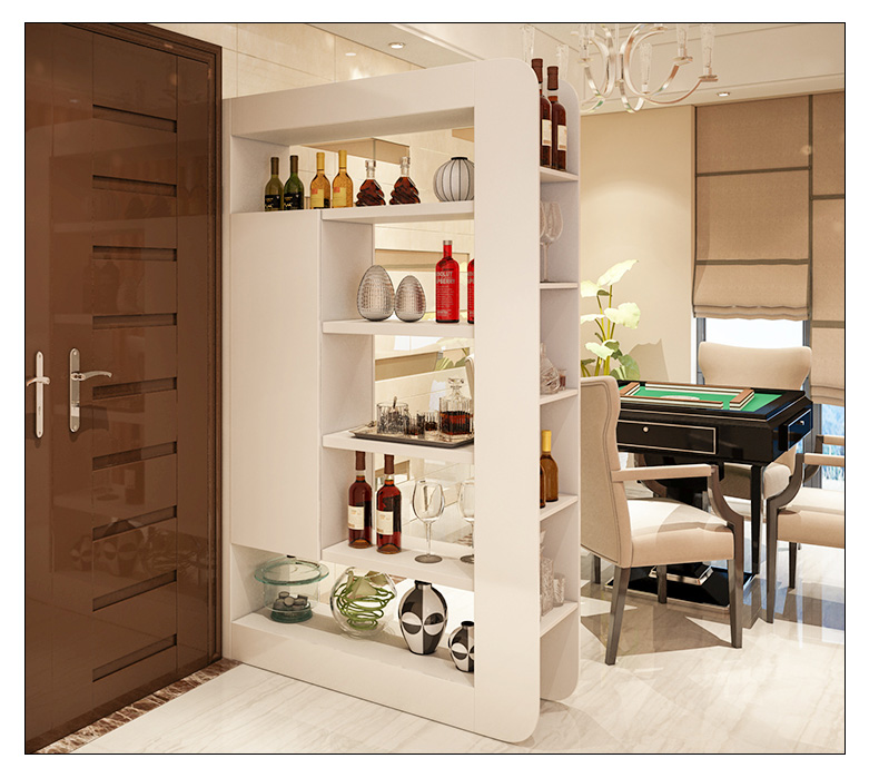 Simple And Modern Fashion Hall Cabinet Living Room Double Sided Partition White