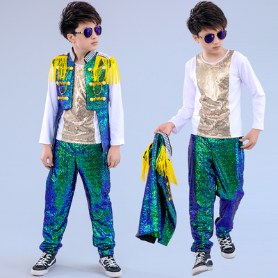 Children Models Walking Show Show Show Clothes Boys Drum Stage Jazz Dance Performance