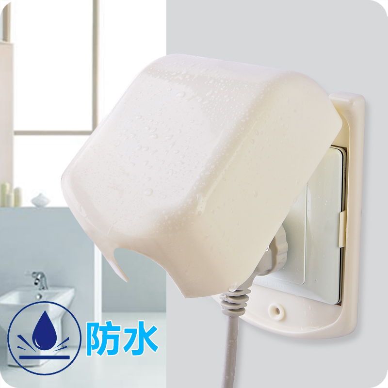 [创意塑料] переключатель [套家用电源插座保护] накладка [浴室] водонепроницаемый переключатель [保护套防电保护] корпус