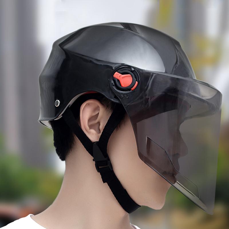 骑行头盔电瓶摩托车头盔夏季通勤安全帽子男女滑板自行车骑行装备