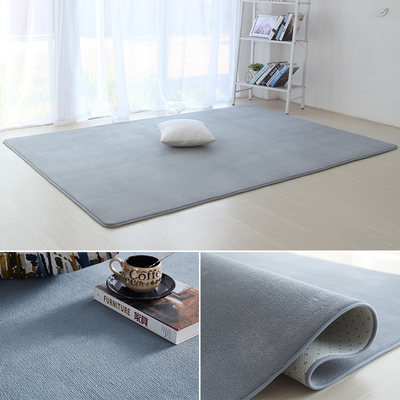 Simple modern living room coffee table big carpet bedroom full of cute net red gray bedside small floor mats for children's home