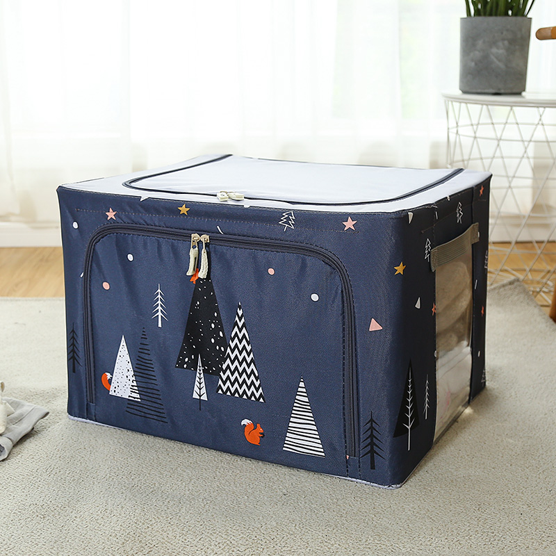 Cotton And Linen Household Large Clothes Box Wardrobe Clothing Storage Box  Folding Storage Box Fabric Storage Box