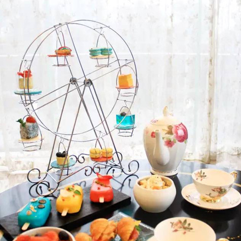 百日蛋糕甜品架子下午茶创意宝宝蛋糕甜点托摆设场景糕点台摆件架