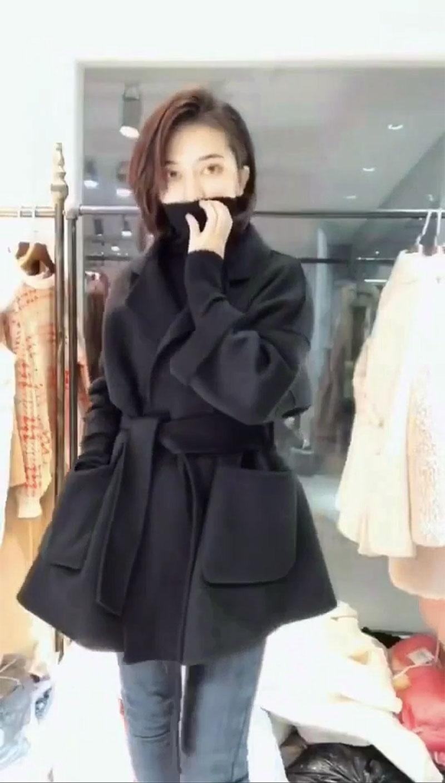 反季清仓特价双面羊绒风衣外套欧洲站正品2020春季腰带款羊绒大衣