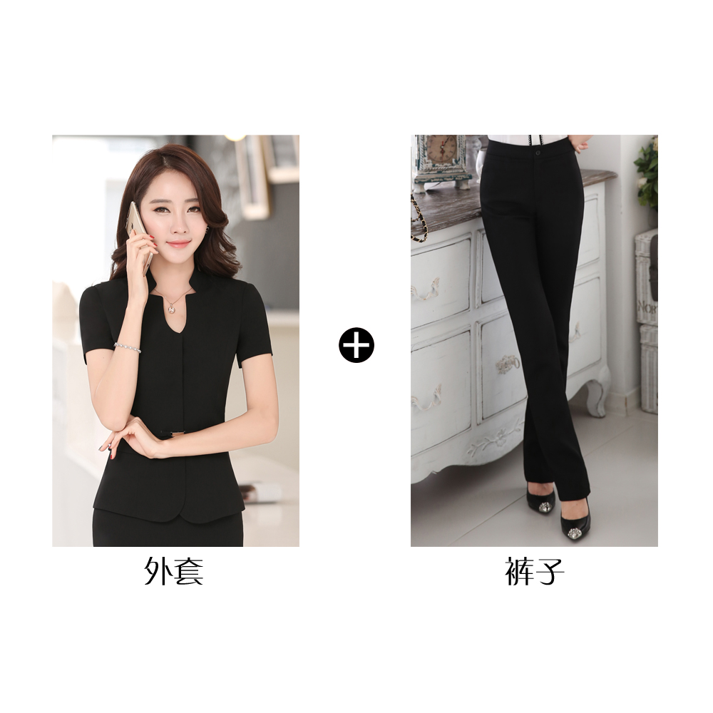 Hotel Work Clothes Summer Front Cash Register Professional Suit Female