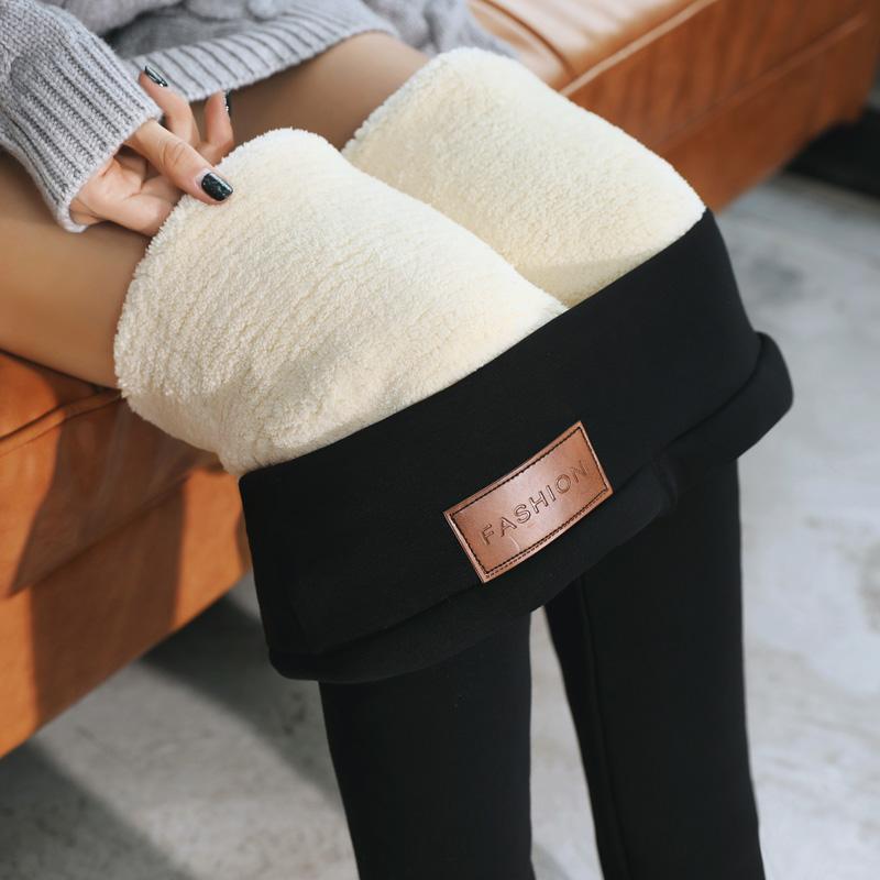 唐嫣同款纯棉羊羔绒特厚打底裤棉裤