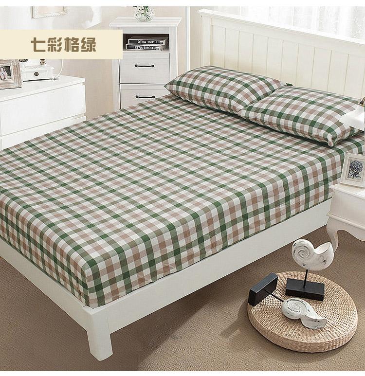 良品水洗棉床笠单件 1.5m1.8米纯棉床单席梦思棕垫保护套 可定做7张