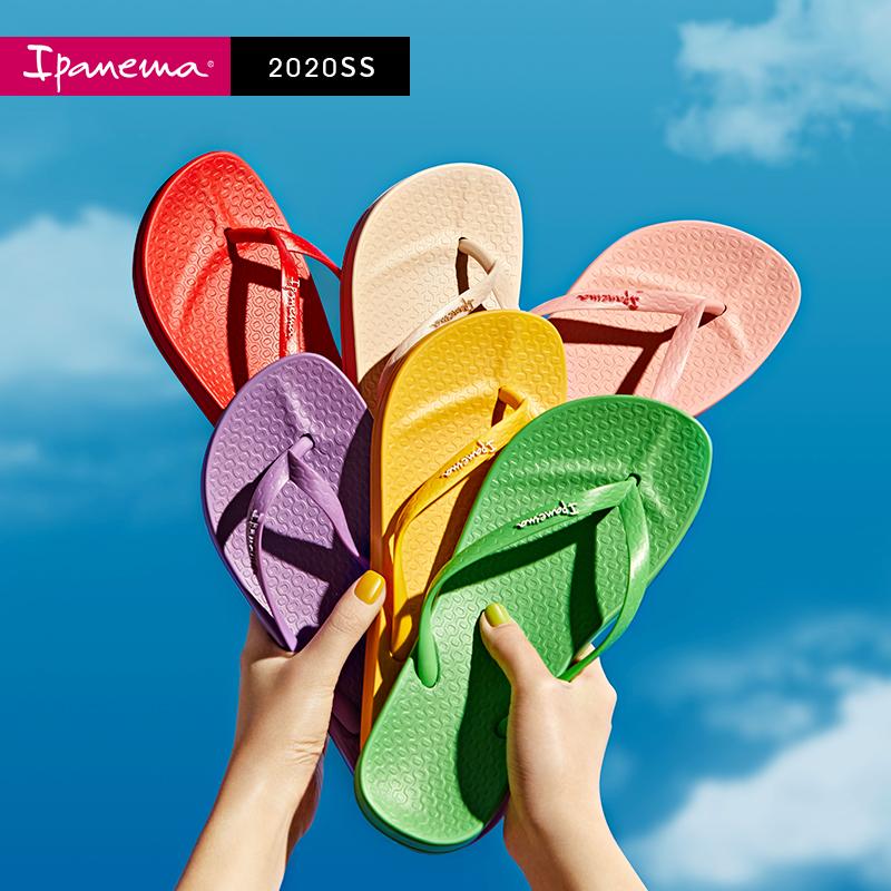 巴西进口  ipanema 依帕内玛 2020新款 彩虹阿娜特 女式人字拖鞋 沙滩鞋  聚划算天猫优惠券折后¥99包邮(¥119-20)