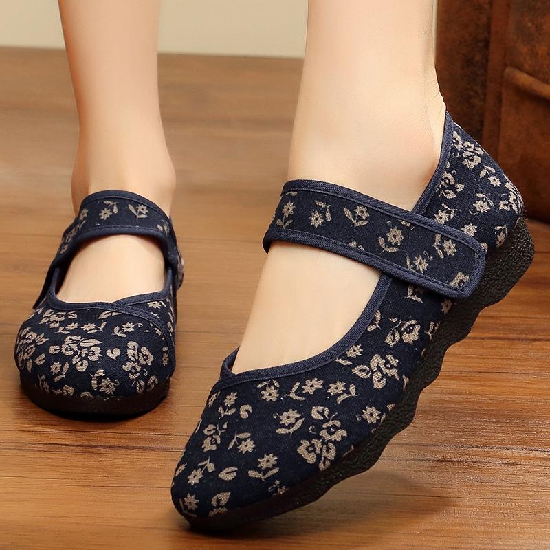 老北京布鞋女大码老太太2017春季新款正品绣花鞋中老年奶奶穿的鞋