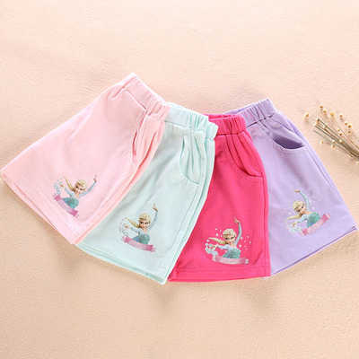 Children's clothing Frozen outside shorts girls Aisha clothes summer pants casual shorts thin section