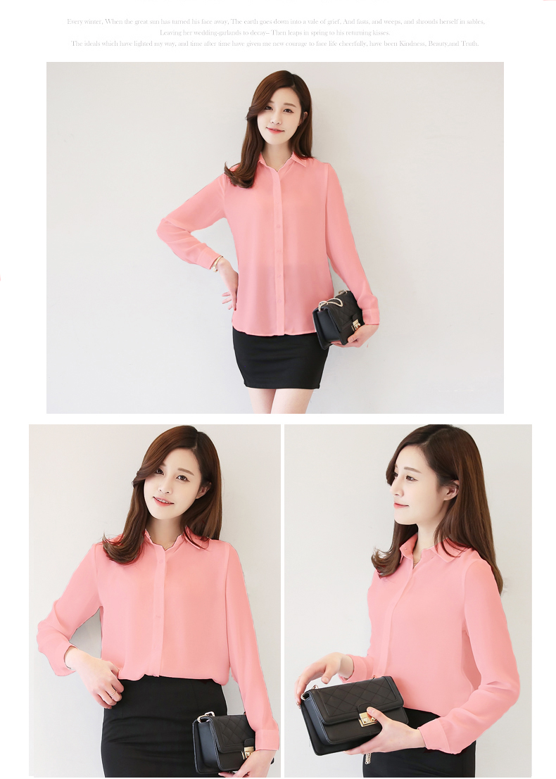 Jys Fashion Korean Style Office Lady Blouse Collection 20 Variety Pattern To Select 11street