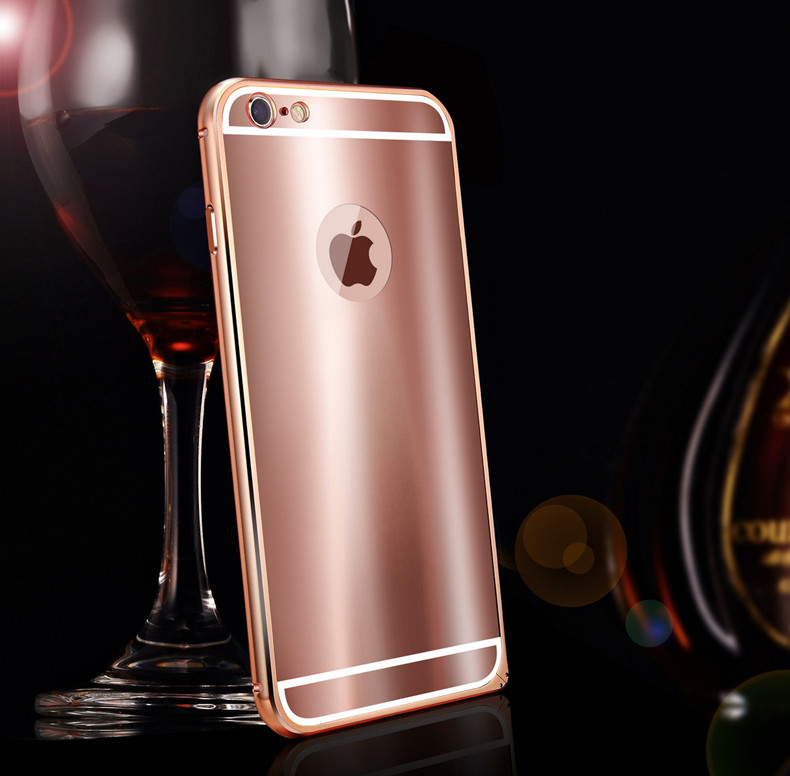 iy Ultra Slim Lightweight Aluminum Metal Bumper Dazzle Color Acrylic Back Cover Case for Apple iPhone 6S Plus/6 Plus & iPhone 6