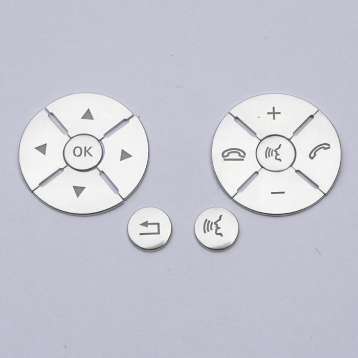 适用于奔驰老款C级E级C200 E300方向盘按键贴片W204 212内饰改装
