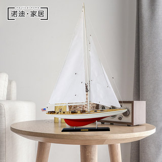 William exquisite wooden sailboat model number sloop American Continental porch decorations ornaments smooth sailing ship model
