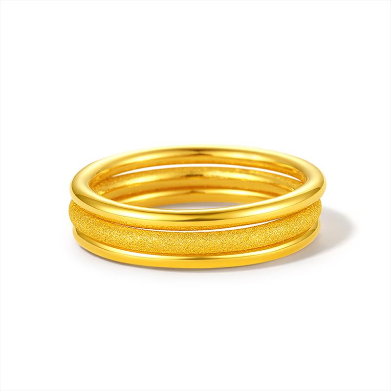 越南沙金戒指男士久不掉色999正品仿真开口孔雀18k黄金指环首饰女