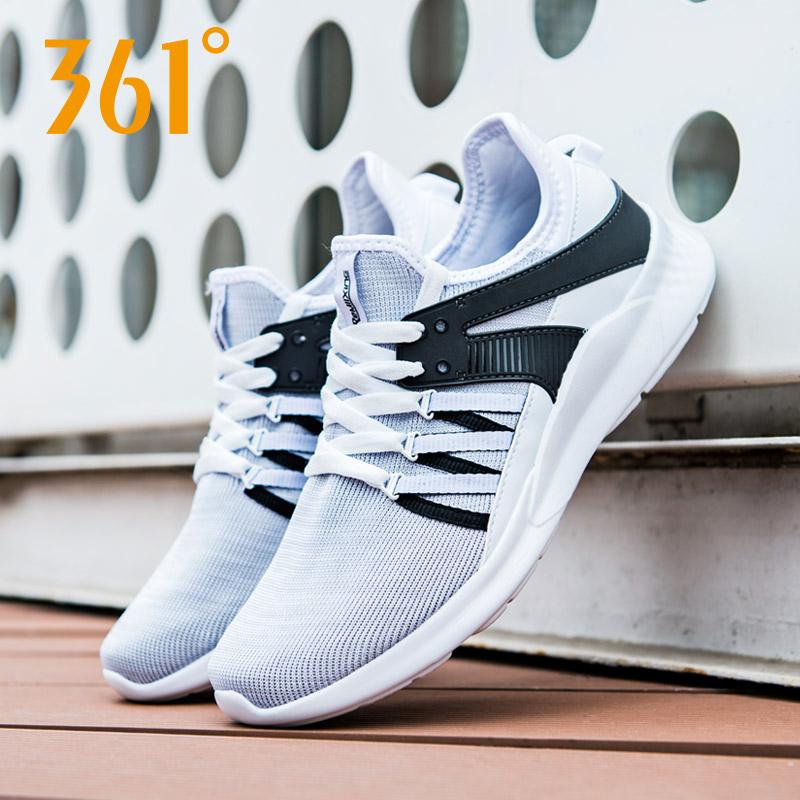 361度男鞋跑步鞋2018春夏针织网面跑鞋透气运动鞋男士轻便休闲鞋