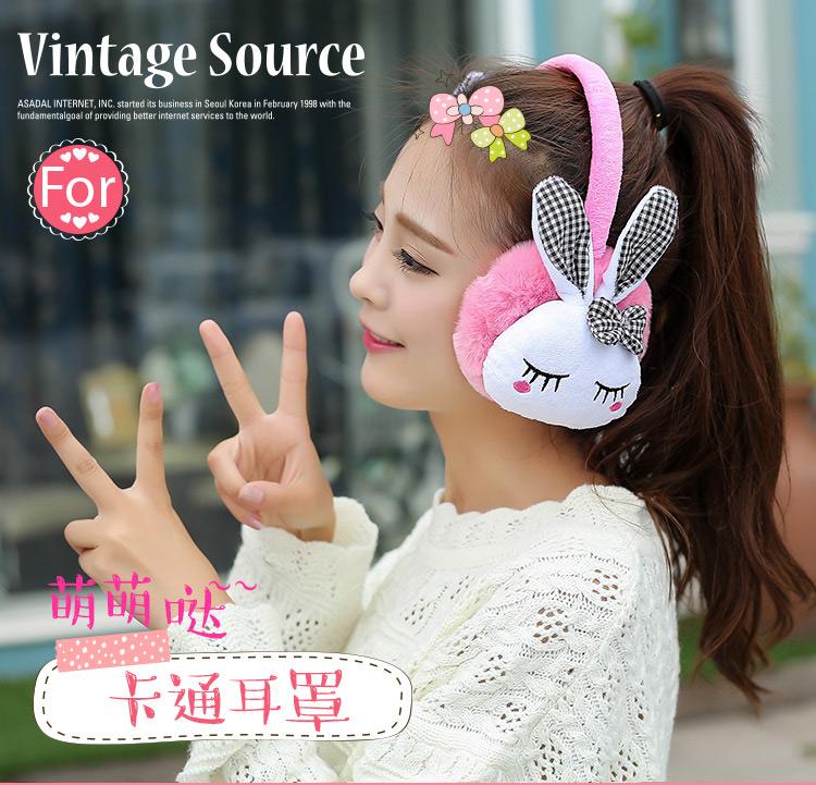 秋冬韩版保暖可爱卡通耳暖耳捂耳罩仿海绵宝宝可调节架子时尚耳套