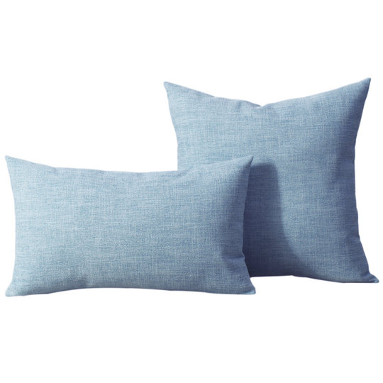 Large solid color cotton linen Nordic sofa pillow cushion cover living room bed side pillow simple modern style fabric