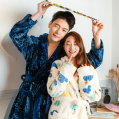 His & Hers Warm Plush Bathrobe