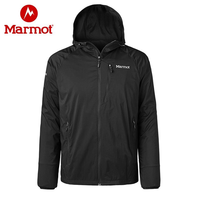 Marmot 土拨鼠 Ether DriClime® 户外男式连帽防水夹克 R52730 天猫优惠券折后¥399包邮(¥599-200)2色可选