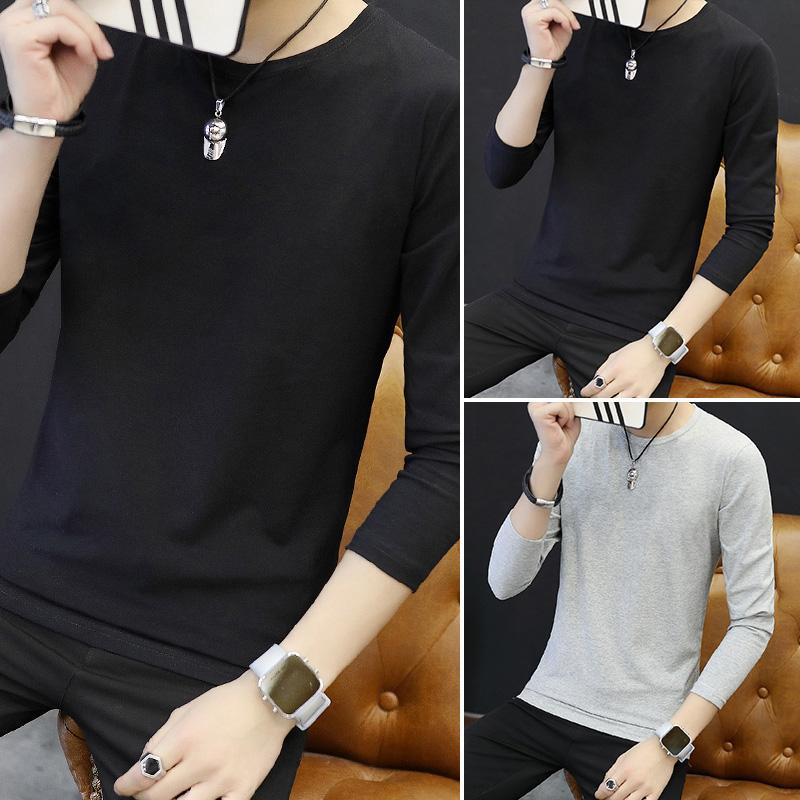 Цвет: Длинный рукав круглый сплошной Цвет/черный+черный+серый