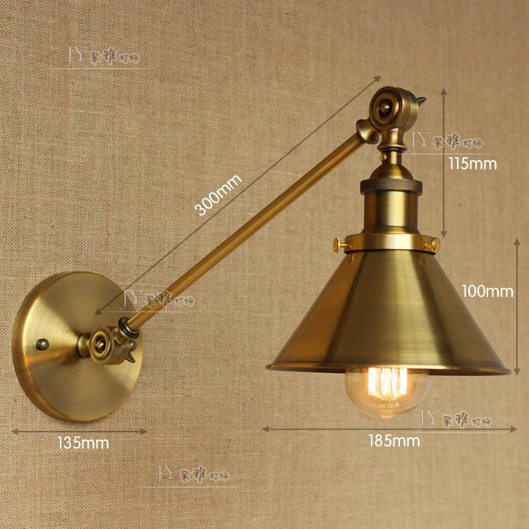 Home Garden Wall Fixtures Filament Swing Arm Sconce Antique Copper E27 Light Wall Lamp Lighting 20th C Stbalia Ac Id