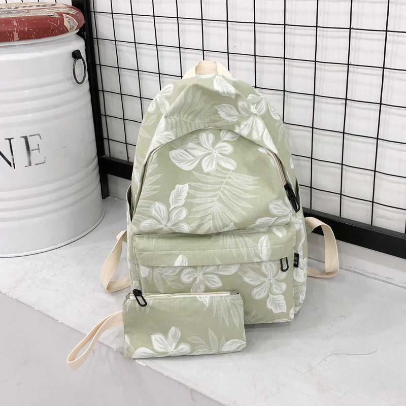 2018 新款新 新款 新款 揹 韩 韩 韩 韩小清新一 搭 Junior High School students backpack flower girl heart backpack tide