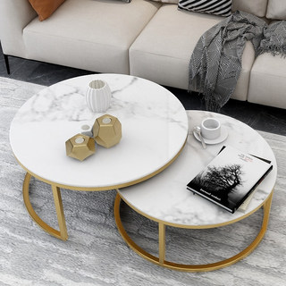 Nordic circular marble slab table spent a few simple network red light luxury home creative small apartment living room tables