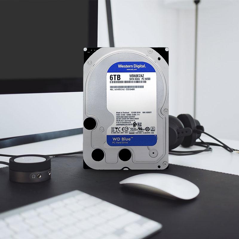 金盒特价 Western Digital 西部数据 蓝盘 WD60EZAZ 台式机械硬盘 6TB 6.7折$104.99史低 海淘转运到手约¥794
