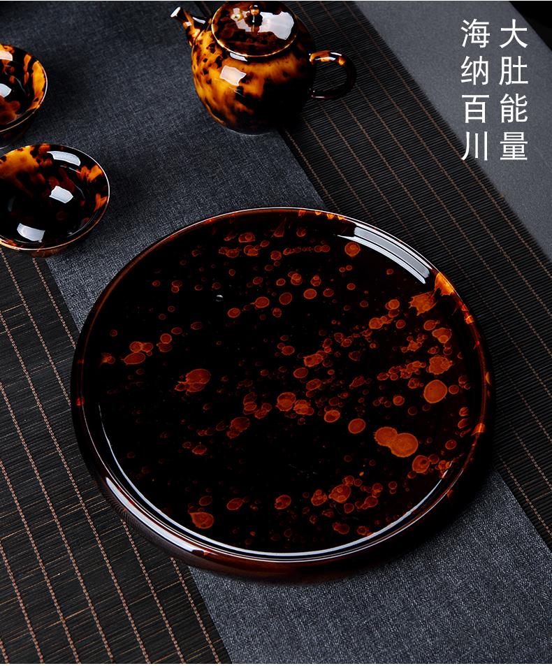 Jingdezhen hawksbill glaze dry tea sets tea tray tea sea household of Chinese style ceramic tea set trumpet with one person