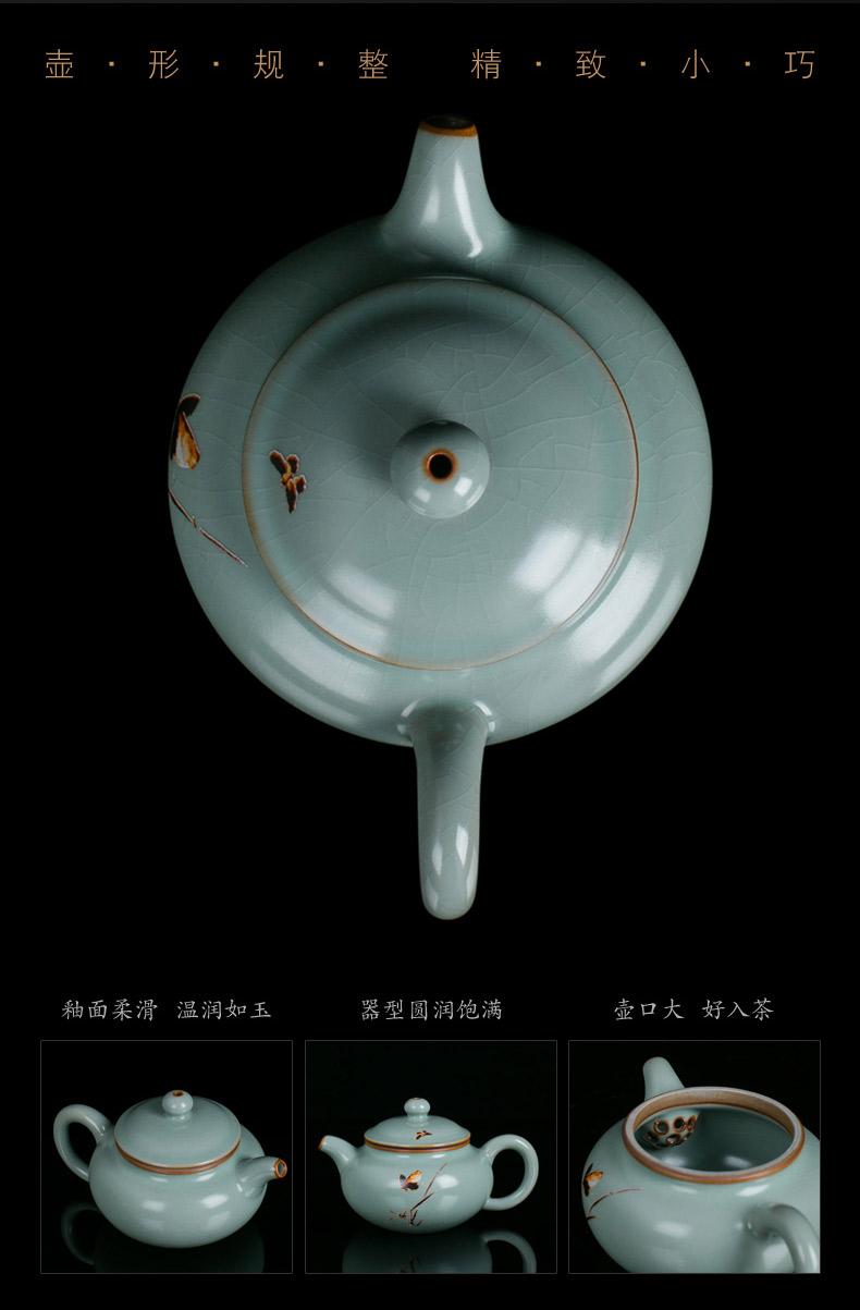 Jingdezhen ceramic your up crack kung fu tea set home sitting room master cup teapot your porcelain cups