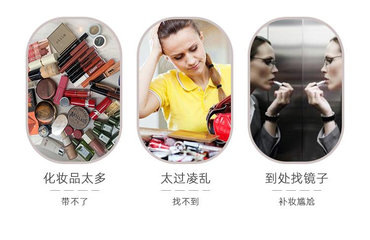 朗颜化妆包带镜子女跟妆师专业箱大容量手提品可携式收纳盒家用旅行详细照片