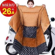 Electric motorcycle windshield is winter plus thick velvet autumn and winter cold wind and waterproof battery-sided tram cover