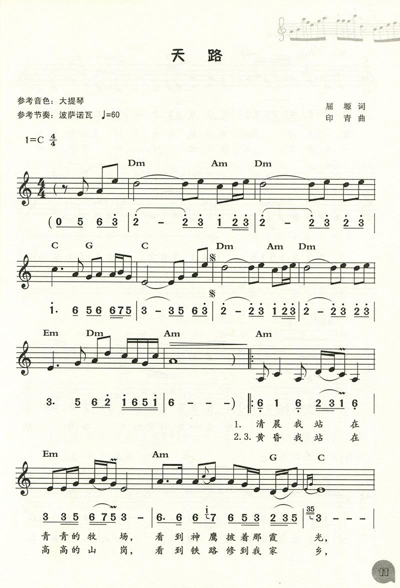 流行与经典 电子琴简谱 五线谱精选曲集 大字大音符版图片