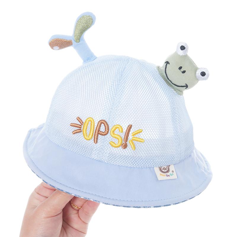 宝宝渔夫帽子夏季小孩薄款6-24月男女儿童防晒太阳帽婴儿遮阳帽潮