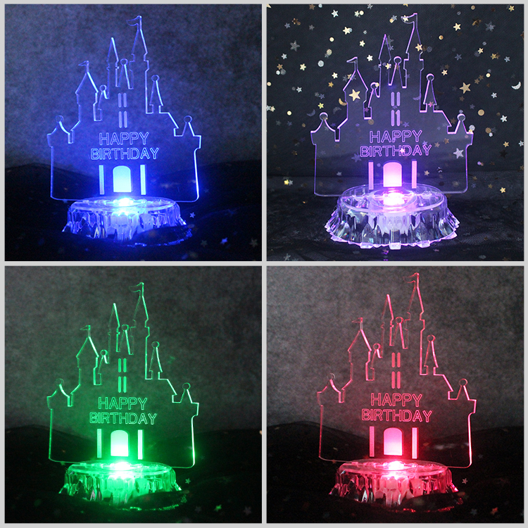 Multicolored Glowing Acrylic Castle