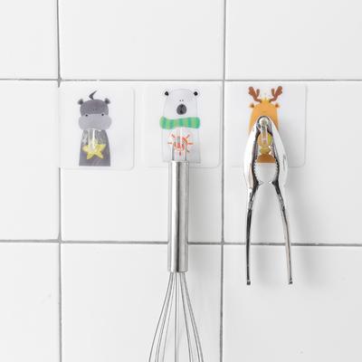 创意卡通免钉粘胶挂钩厨房粘贴勾子 浴室无痕墙壁门后多用途挂钩