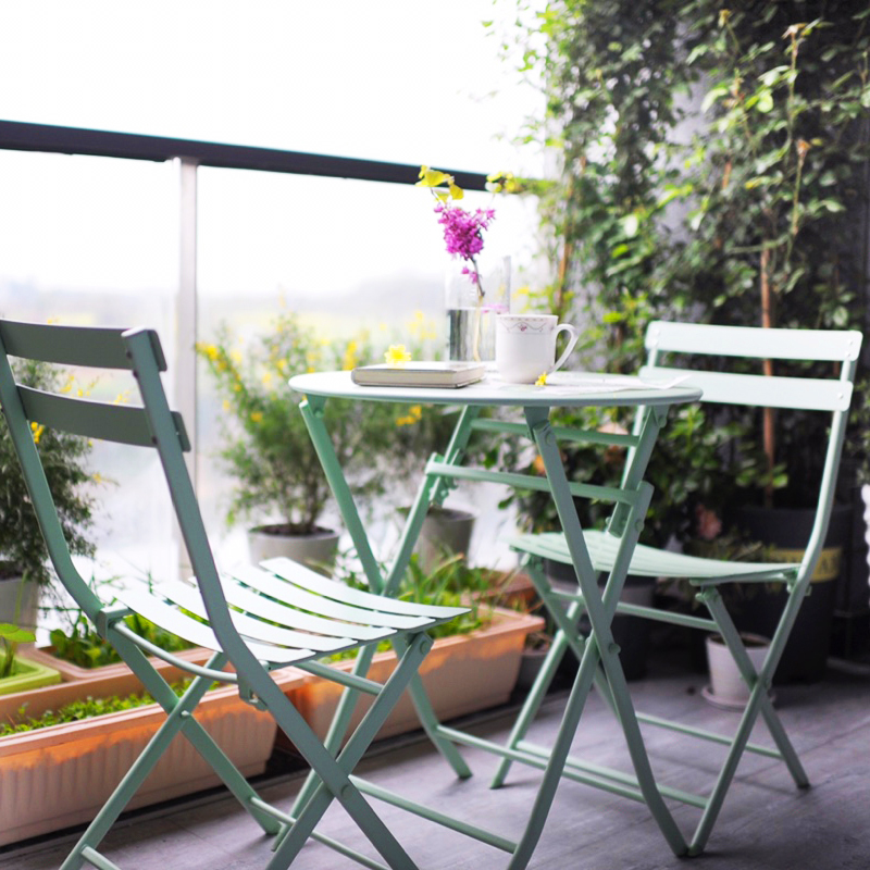 Usd 46 00 Balcony Table And Chair Iron