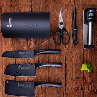 【10件套】巧媳妇厨房菜刀组合黑刀家用