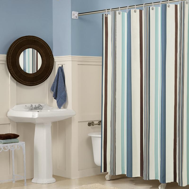 Ванная комната ванная комната занавески для душа установите перфорация водонепроницаемый анти плесень занавес отрезать занавес душ вешать занавес ребенок ткань