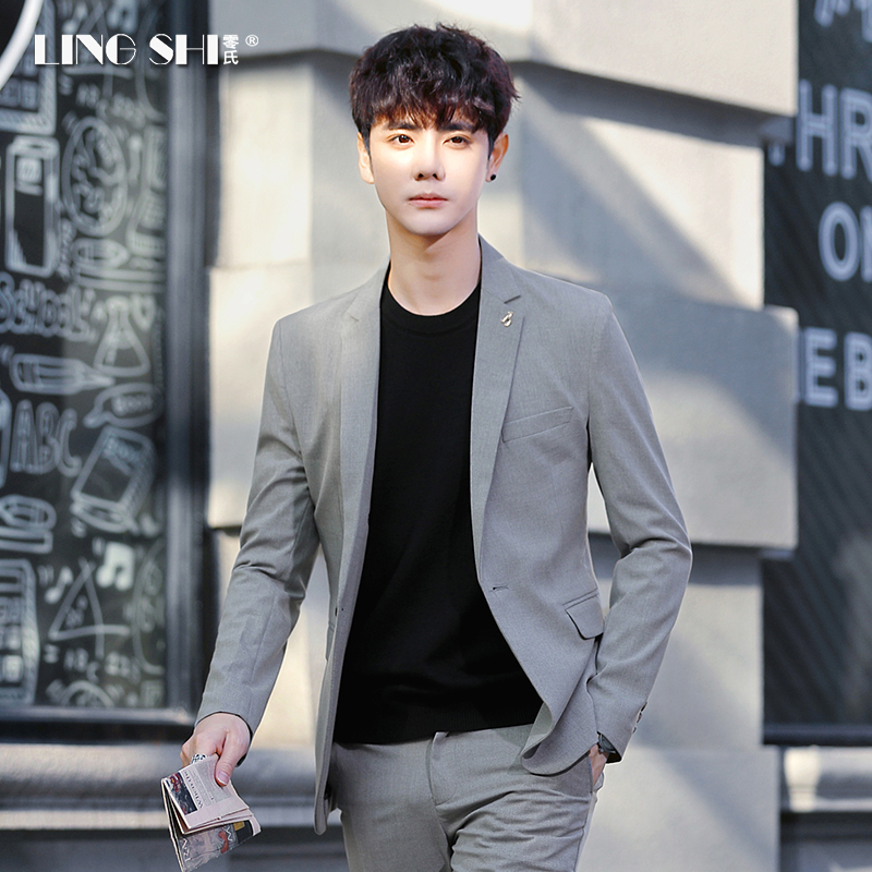 Summer suit suit men Korean version of the trend small suit casual ultra-light thin jacket handsome body dress