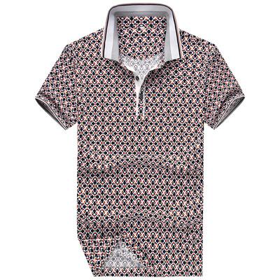 萨肯男士双丝光棉t恤螺纹领POLO衫