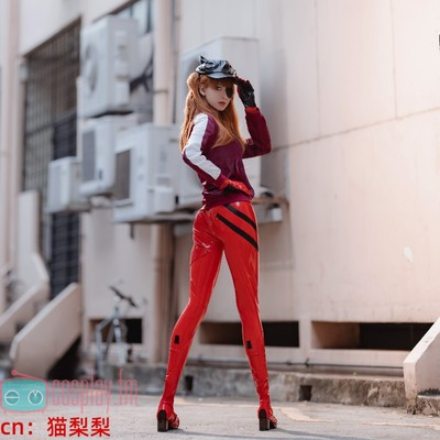 taobao agent Neon Genesis Evangelion EVA style wave Asuka cos mech suit including hat eye mask tights