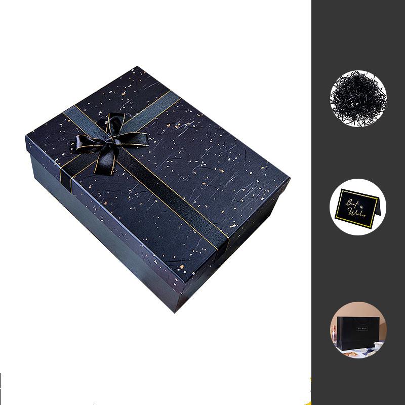 黑色礼品盒子ins风礼物盒大号生日仪式感男生女友礼盒包装盒空盒