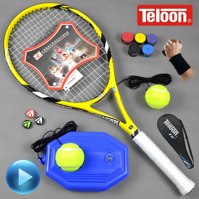 Chính hãng Teloon Tianlong carbon vợt tennis nam và nữ sinh viên người mới bắt đầu một ánh sáng duy nhất phù hợp với đào tạo wqp