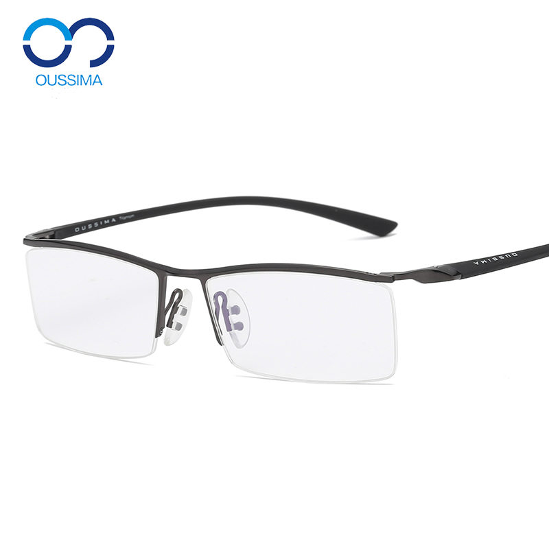 Cận thị kính bảo vệ bức xạ nam màu chống-ánh sáng màu xanh hoàn thành khung phong trào TR90 lông mày dòng nửa khung 8189