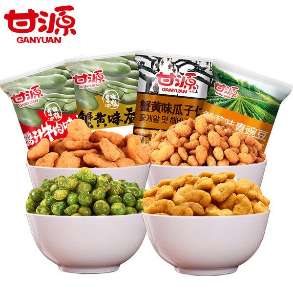 甘源 蟹黄蚕豆、青豆、瓜子、酱牛肉味蚕豆组合 1138g 聚划算+优惠券折后¥24.9包邮(¥29.9-5)