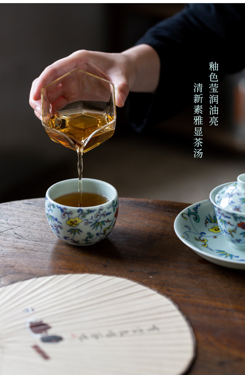 Ultimately responds to antique single cup of glair sample tea cup Chinese style restoring ancient ways of ceramic tea cup for cup masters cup